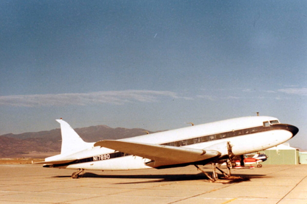 N17890 about to be de-registered in the late 1980s. Photo courtesy of the San Diego Air and Space Museum Archive.