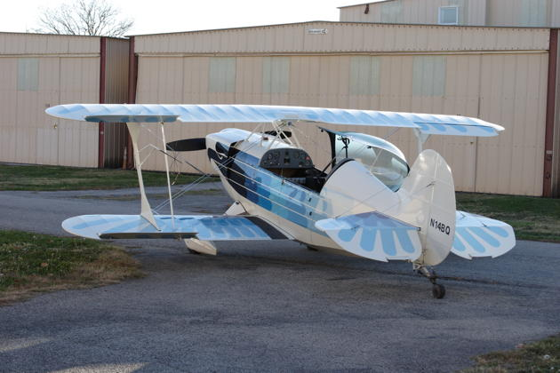 The Christen Eagle II ready to fly at Creve Coeur airport.