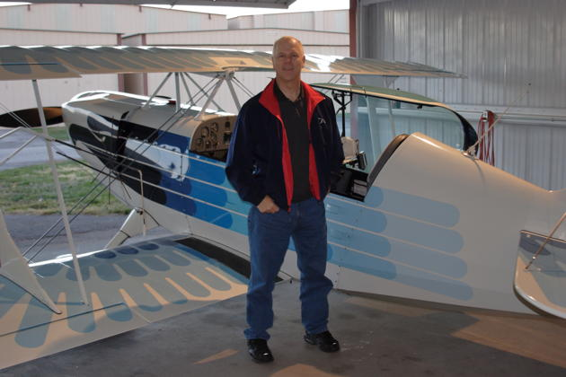 All smiles after flying in Bill Sommer's Christen Eagle II at Creve Coeur airport. Photo by Bill Sommer.