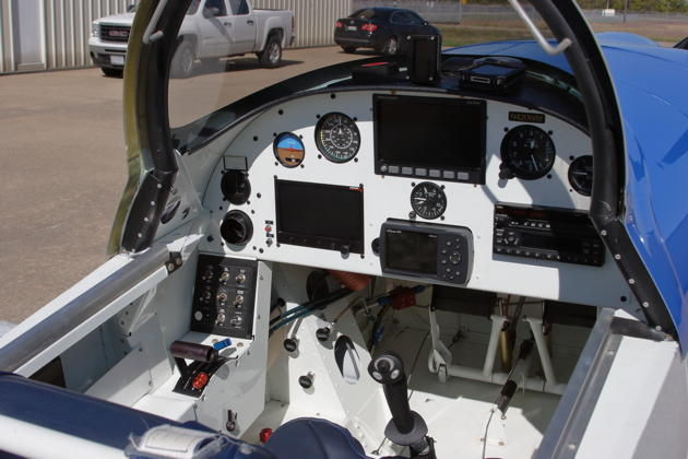 The clean and efficient front cockpit of RV-8 'Dakota Queen'.
