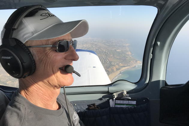 Barry Jay checking out the view as we cruise along the California coast in the Sling TSi.