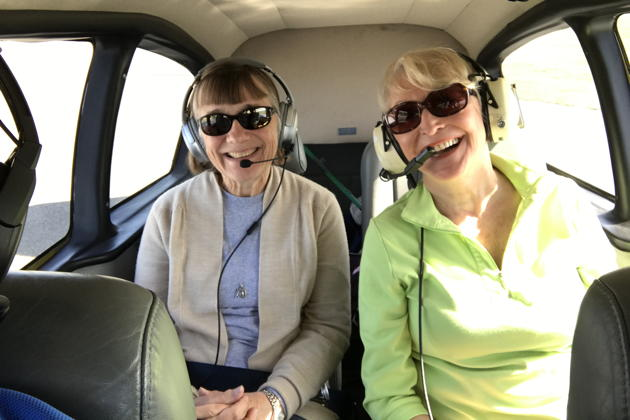 Mary and Veronica Johnson getting chauffeured in the Apache to brunch at Port Townsend.