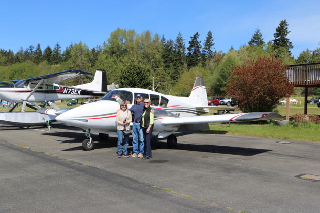 Mary, George and Veronica Johnson with the Apache on our second Port Townsend trip.