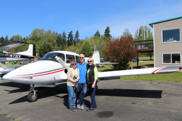 With Mary and Veronica Johnson on our second Port Townsend Apache trip. Photo by George Johnson.