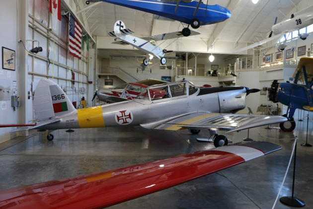 Bill Sleeper's donated Portuguese-manufactured Chipmunk NX1366 at the Port Townsend Aero Museum.