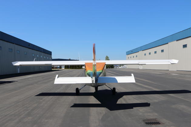 Aft view of the Ranger at Paine Field.